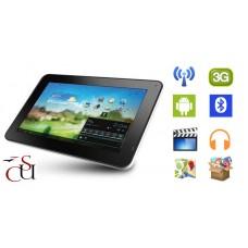 """TABLET XTREME 45528 10"""" 8GB QUAD CORE WI-FI + 3G SILVER ITALIA + KIT CUSTODIA E POWER BANK 2600 MAH"""
